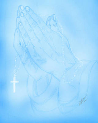 Digital Art - Praying Hands  by Susan Turner Soulis