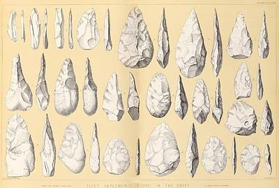 Handaxe Photograph - Prehistoric Stone Tools by Middle Temple Library