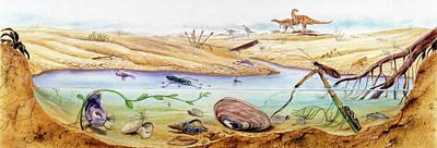 Prehistoric Watertight Ecosystem Art Print