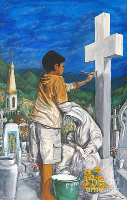 Preparacion Para El Dia De Los Muertos Original by Pat Haley