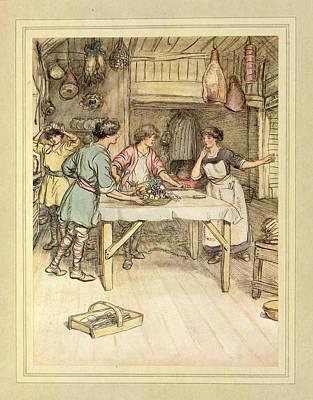 Preparing Food Print by British Library
