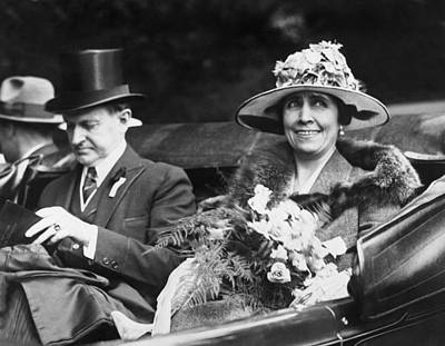 Calvin Photograph - President And Mrs. Coolidge by Underwood Archives