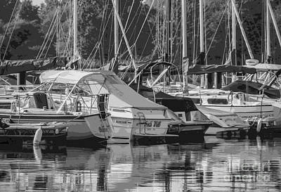 Digital Art - Presque Isle Marina 2013 by Kathryn Strick