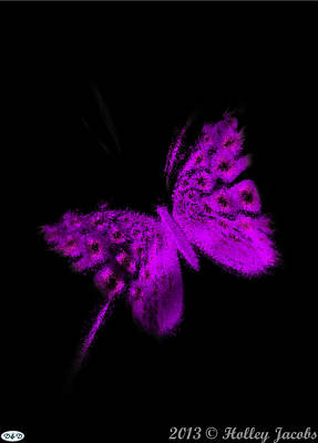 Digital Art - Pretty In Black Purple by Holley Jacobs