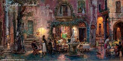 Number 24 Painting - Pretty Life In Monterosso by Cao Yong