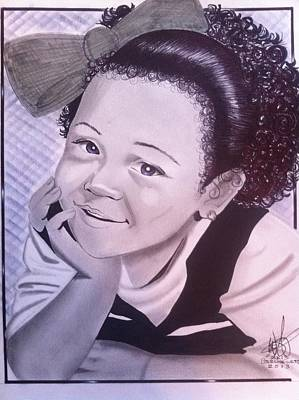 Sterling Drawing - Pretty Little Creole Girl by Sterling West