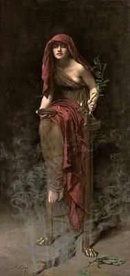 Priestess Of Delphi Art Print by John Collier