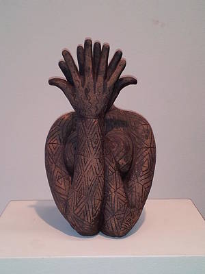 Sculpture - Primal Heart by Kristen R Kennedy