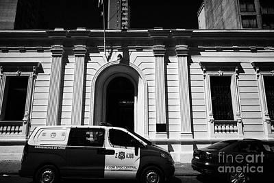 Police Van Photograph - primera conisaria carabineros de chile national police Santiago Chile by Joe Fox