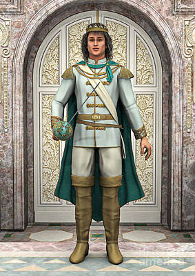 Medieval Entrance Digital Art - Prince In Fairytale Palace by Design Windmill