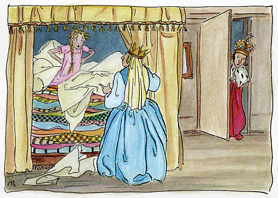 Drawing - Princess And The Pea by Granger