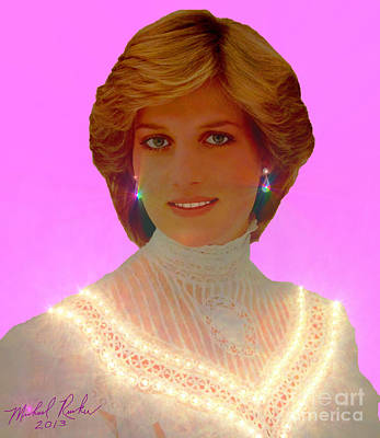 Princess Diana Art Print by Michael Rucker