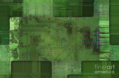 Printed Circuit - Motherboard Art Print by Michal Boubin
