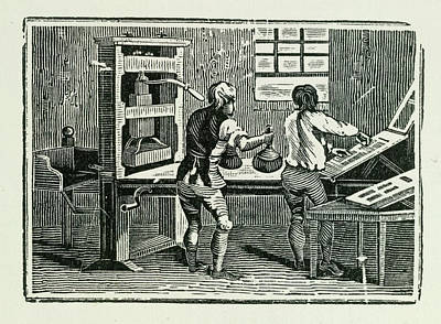 Printing Press Art Print by British Library