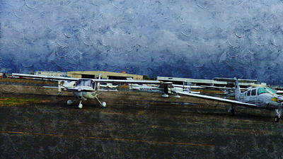 Public Holiday Painting - Private Airport by Xueyin Chen
