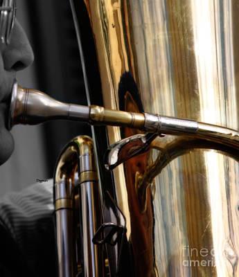 Profile In Tuba Art Print
