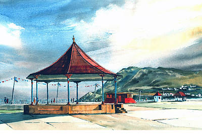 Mixed Media - Prom Bandstand Bray Wicklow by Val Byrne