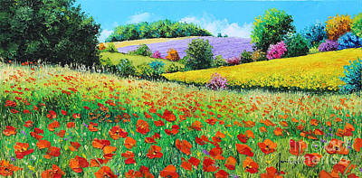 Rural Landscapes Digital Art - Provencal Flowers by Jean-Marc Janiaczyk