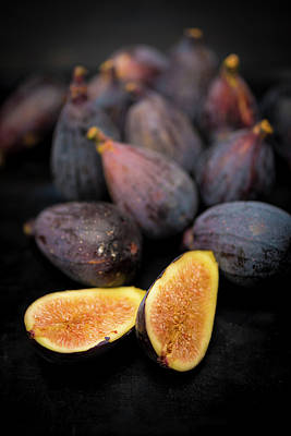 Provence Black Figs Art Print by Aberration Films Ltd