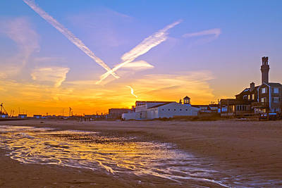 Provincetown Beach At Sunset Art Print by Frank Winters