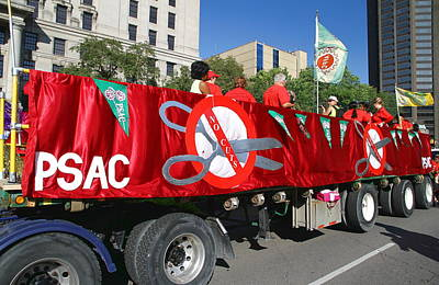 Photograph - Psac Union Truck And Banners by Valentino Visentini