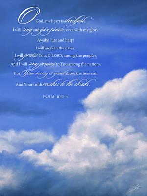 Jesus Christ Digital Art - Psalm 108 by Dale Jackson
