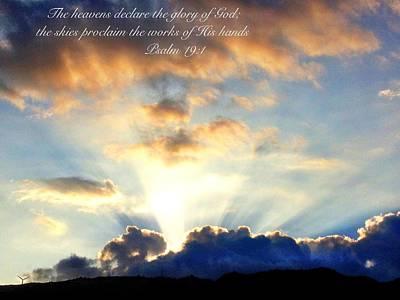 Psalm 19 1 Art Print