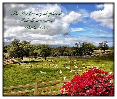 Photograph - Psalm 23 1 by Scripture Pictures