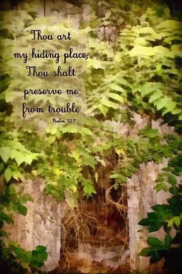Shed Digital Art - Psalm 32 7 by Michelle Greene Wheeler