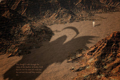 Death Valley Digital Art - Psalm by Carol and Mike Werner