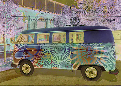 Photograph - Psychedelic Hippie Bus by Karen Stephenson