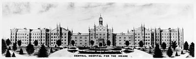 Psychiatric Drawing - Psychiatric Hospital by Granger