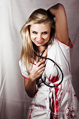Lunatic Photograph - Psychotic Killer Nurse by Jorgo Photography - Wall Art Gallery