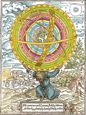Ptolemaic System, Geocentric Model, 1531 Art Print by Science Source
