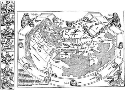 Ptolemaic World Map, 1493 Art Print by Granger