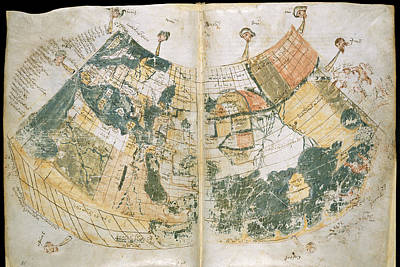 Cartography Photograph - Ptolemy's World Map by British Library