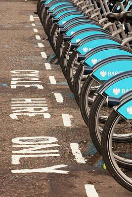 Public Bike Hire Scheme Art Print