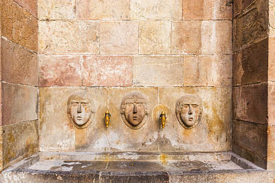 Public Drinking Fountain Barcelona Spain Art Print