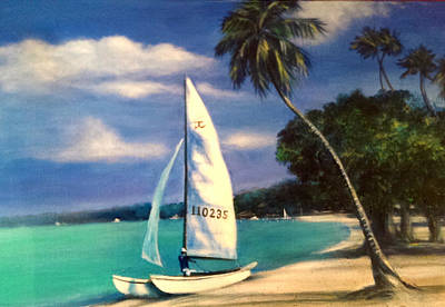 Puerto Rico Beach Original by Larry Palmer