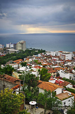 Puerto Photograph - Puerto Vallarta And Pacific Ocean by Elena Elisseeva