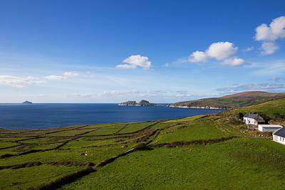Farmscape Photograph - Puffin Island From The Skelligs Ring by Panoramic Images