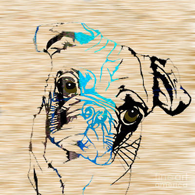 Pug Mixed Media - Pug by Marvin Blaine