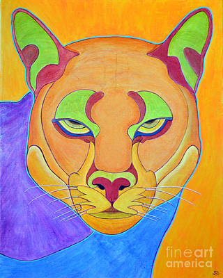 Art Print featuring the painting Puma 1 by Joseph J Stevens