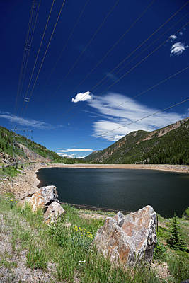 Hydro Wall Art - Photograph - Pumped Storage Hydroelectric Project by Jim West