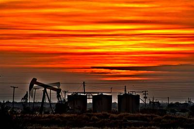 Photograph - Pumpjack In Motion by John Dickinson