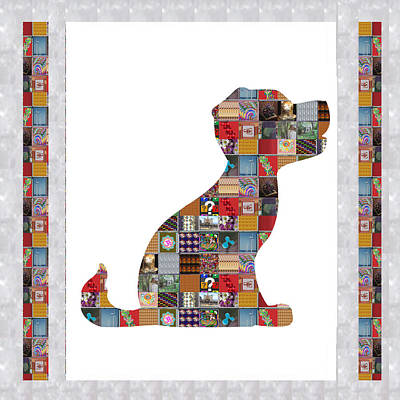 Painting - Puppy Dog Showcasing Navinjoshi Gallery Art Icons Buy Faa Products Or Download For Self Printing  Na by Navin Joshi