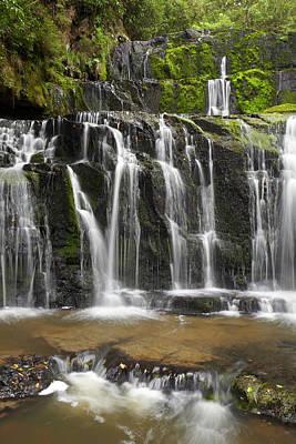 Purakaunui Falls, Catlins, South Otago Art Print