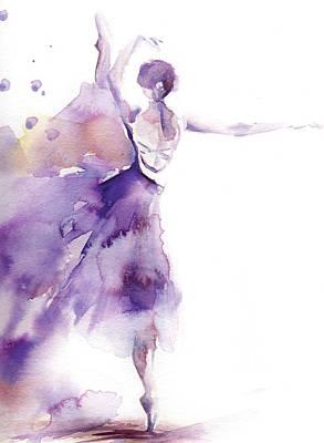 Ballerina Painting - Purple Ballerina II by Sophia Rodionov
