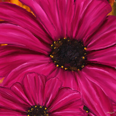 Daisy Digital Art - Purple Beauty by Lourry Legarde