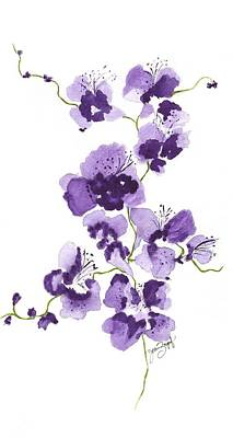 Painting - Purple Flowers by Joan Zepf